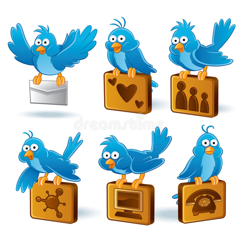 Bluebird social de la red ilustración del vector