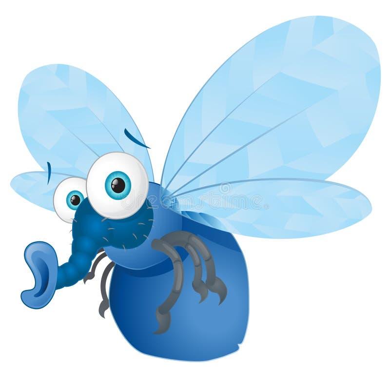 bluebottle πετάξτε διανυσματική απεικόνιση