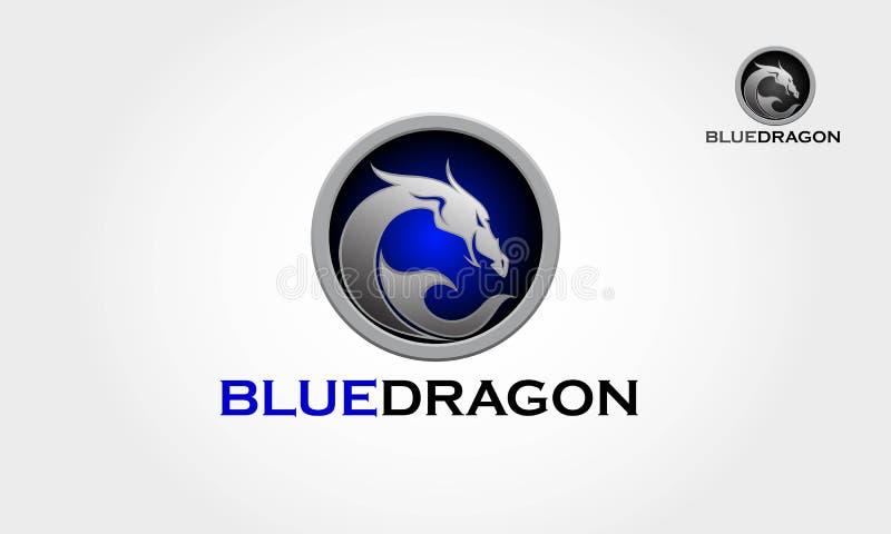 BlueDragon Logo Template royalty-vrije illustratie