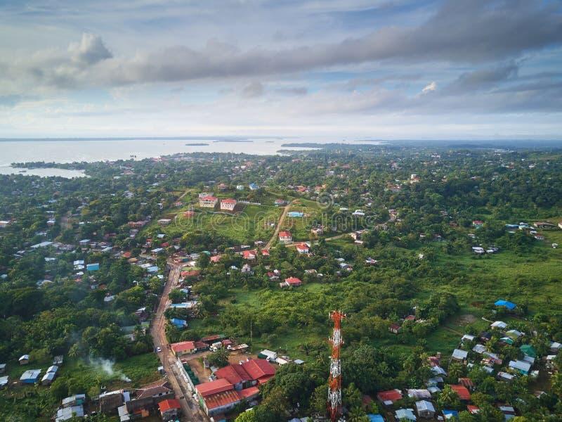 Bluefieldsstad in Nicaragua royalty-vrije stock afbeelding