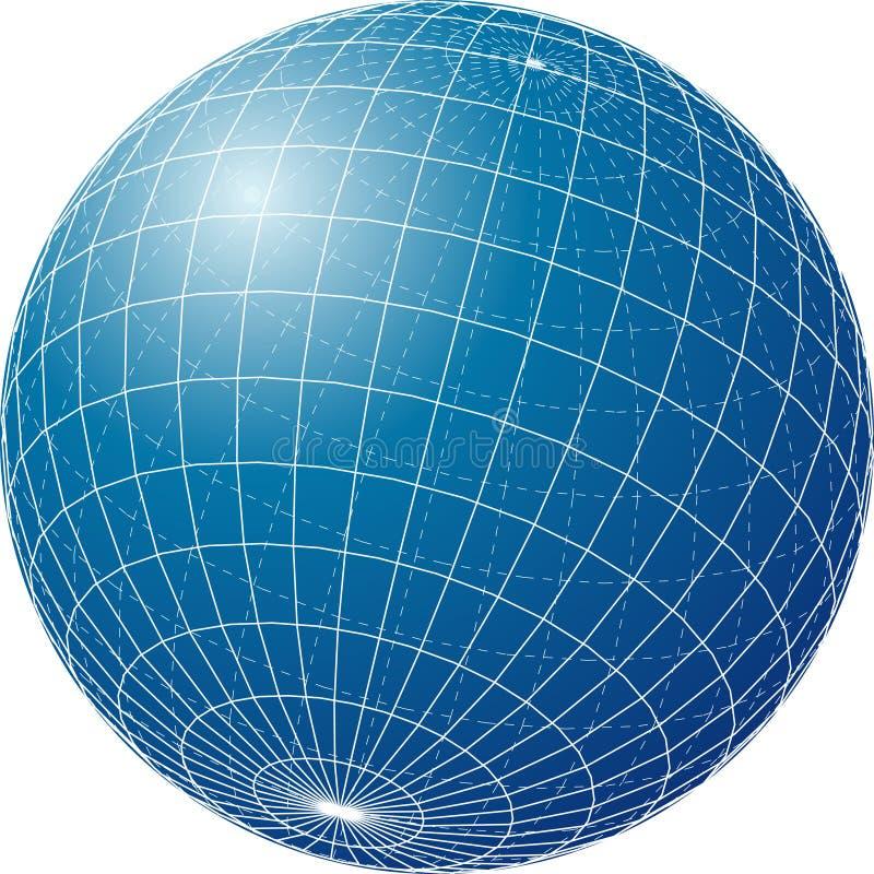 Blueglobe illustrazione di stock