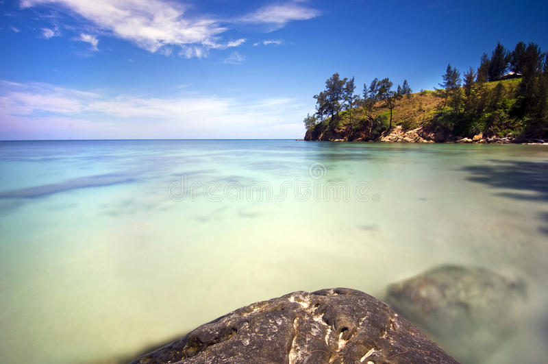 Blueish view at Tips of borneo stock images