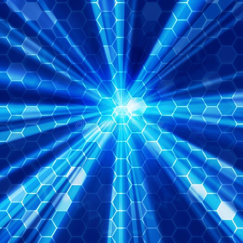 bluelampa för 02 bakgrund stock illustrationer
