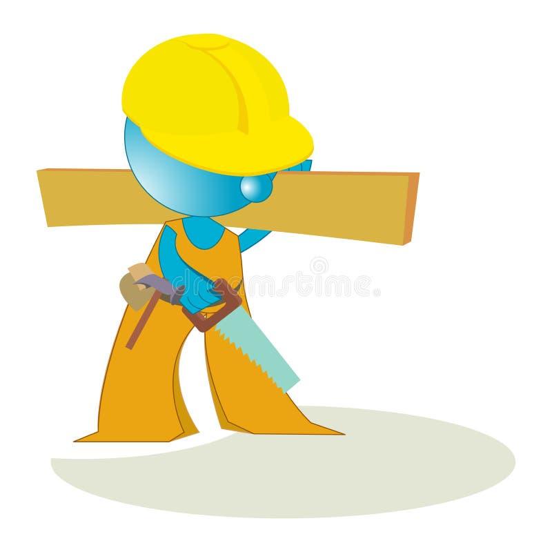 Download Blueman carpenter handyman stock vector. Image of male - 14782482