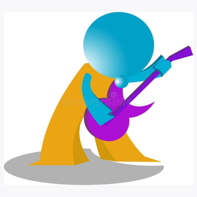 Download Blueman guitar player stock vector. Illustration of illustration - 14883731