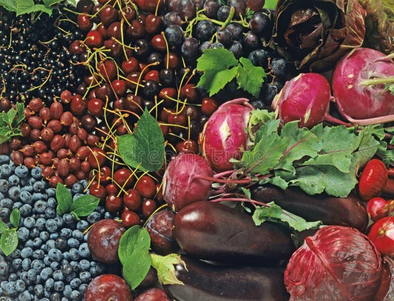bluen bär fruktt grönsaker fotografering för bildbyråer
