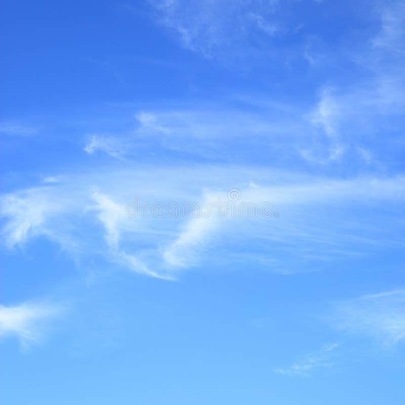 bluen clouds den fleecy skyen royaltyfria bilder