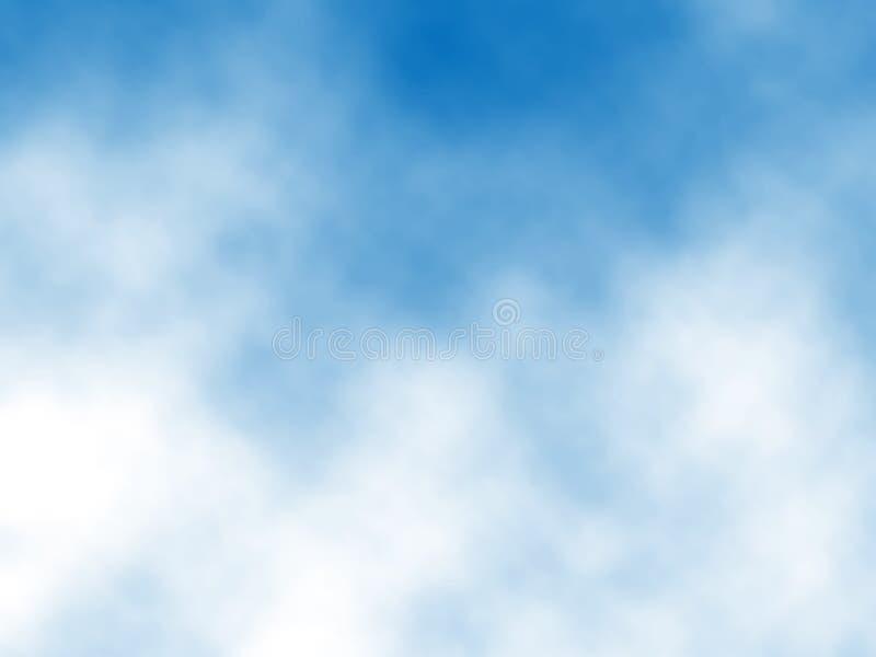 bluen clouds skyen royaltyfri illustrationer