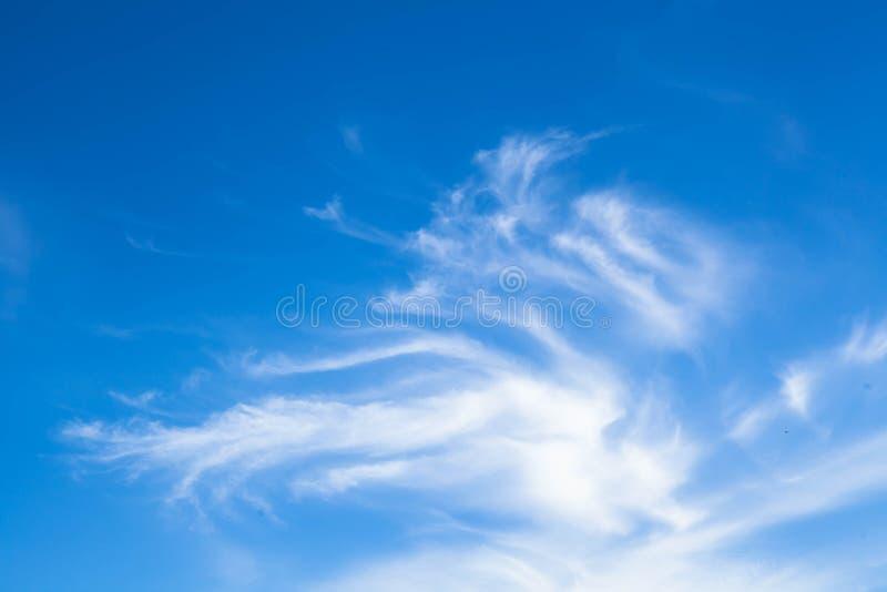 bluen clouds skywhite Naturlig bakgrund royaltyfri foto