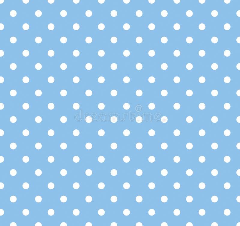 bluen dots polkawhite royaltyfri illustrationer