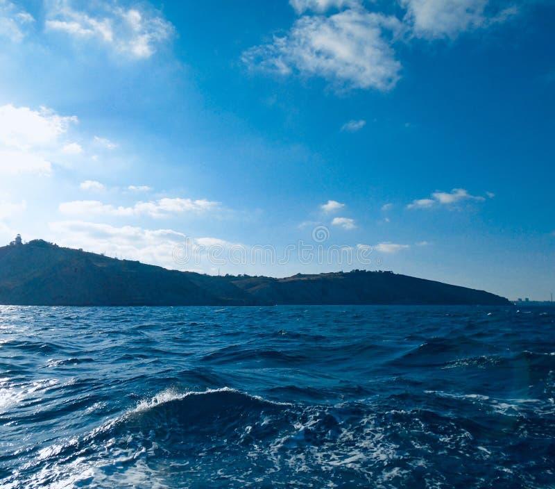 Blueness of the Black Sea, Crimea royalty free stock photo