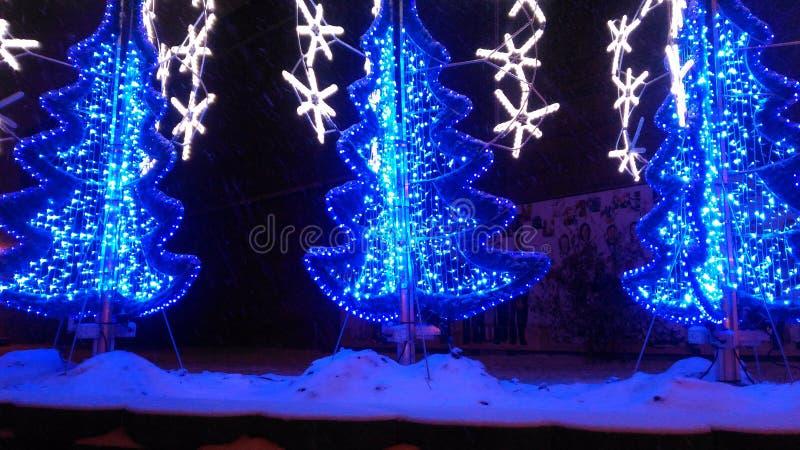 Bluenight de la Navidad imagenes de archivo