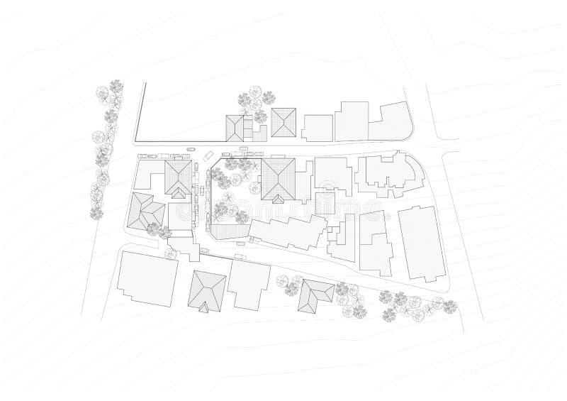 blueprint план урбанский иллюстрация штока