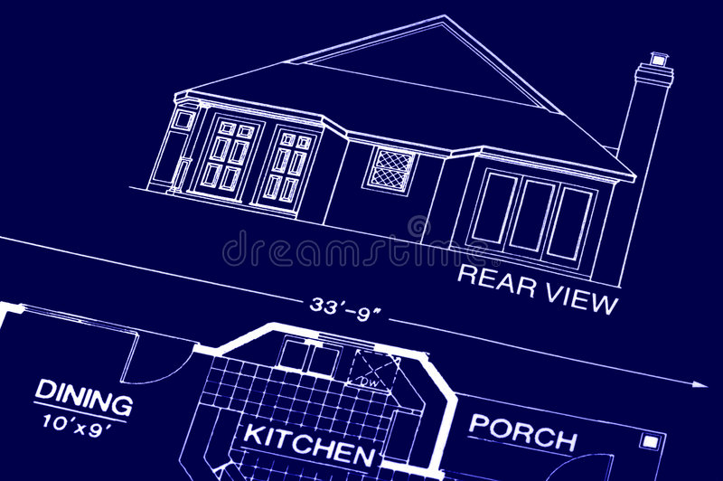 Blueprint royalty free stock photo