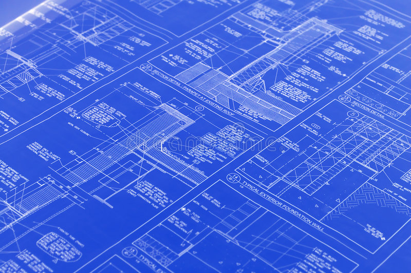 A blueprint stock image