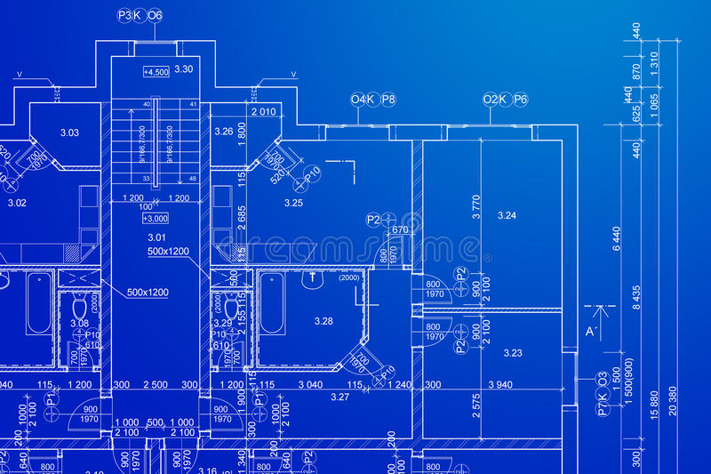 Blueprint stock image. Image of drafts, dimensions, building - 22941165