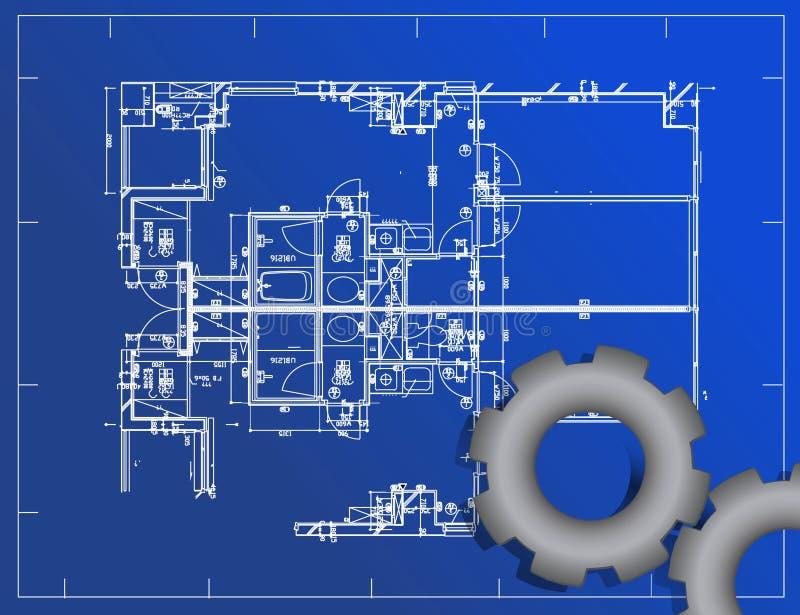 Download Blueprint stock vector. Image of document, idea, exterior - 24902399
