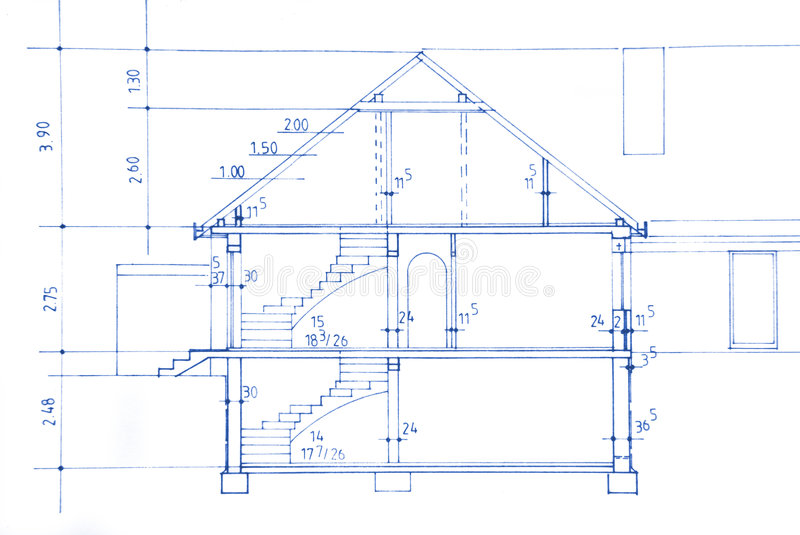 Blueprint. Of my own house - beautiful background image royalty free stock photos