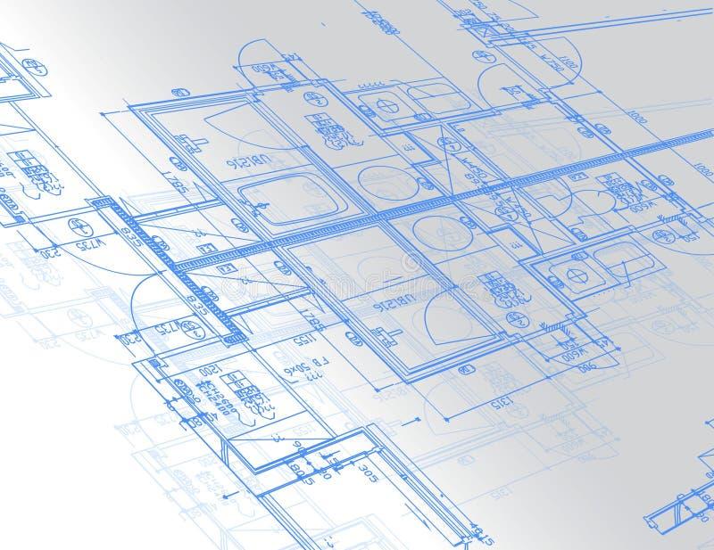 Blueprint_3 illustrazione di stock