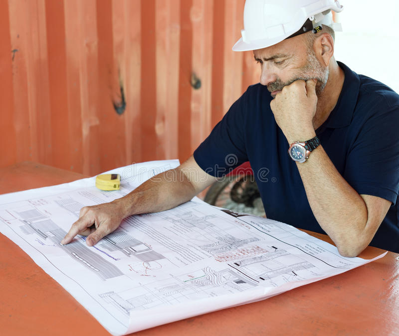 Blueprint Architect Career Structure Construction royalty free stock images