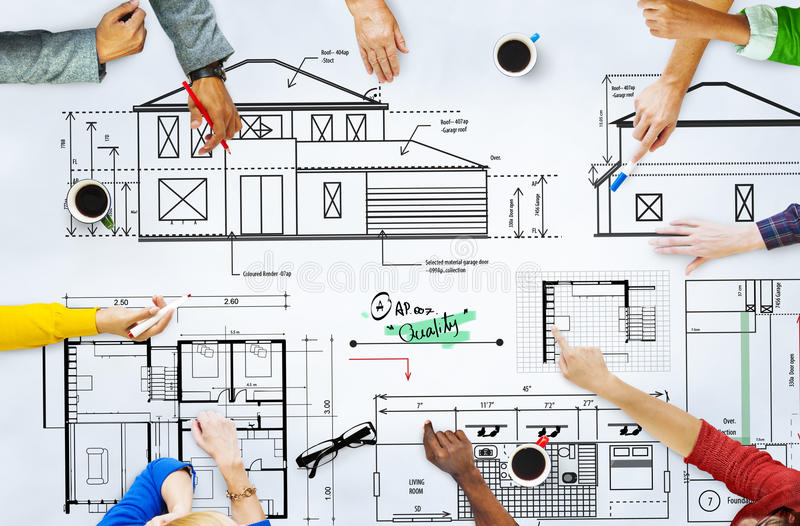 Blueprint Architect Construction Project Sketch Concept royalty free stock image