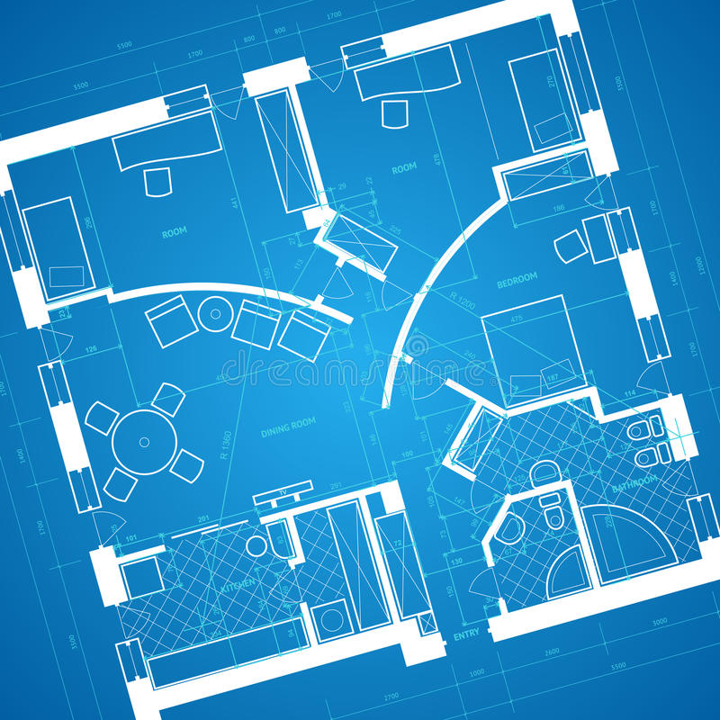 Download Blueprint background stock vector. Image of contemporary - 14637279