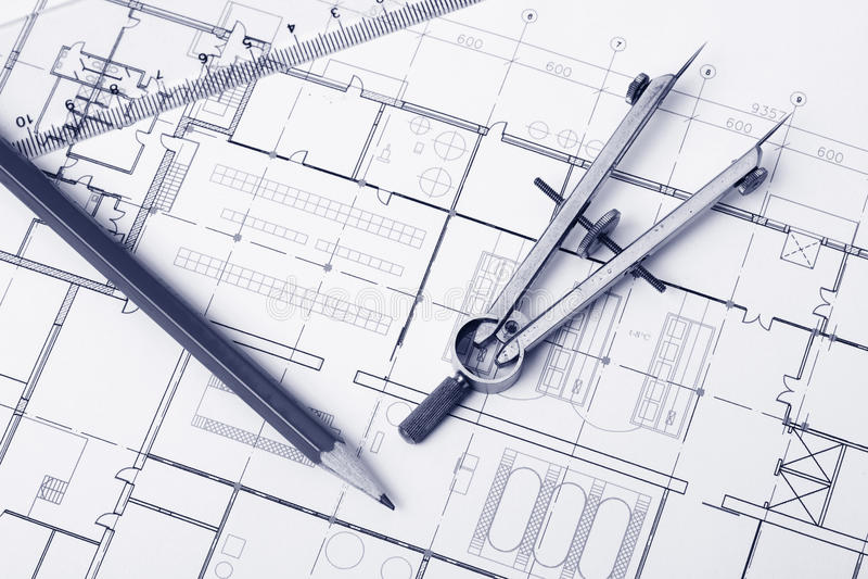 Blueprint Background Stock Image  Image Of Plan  Tool