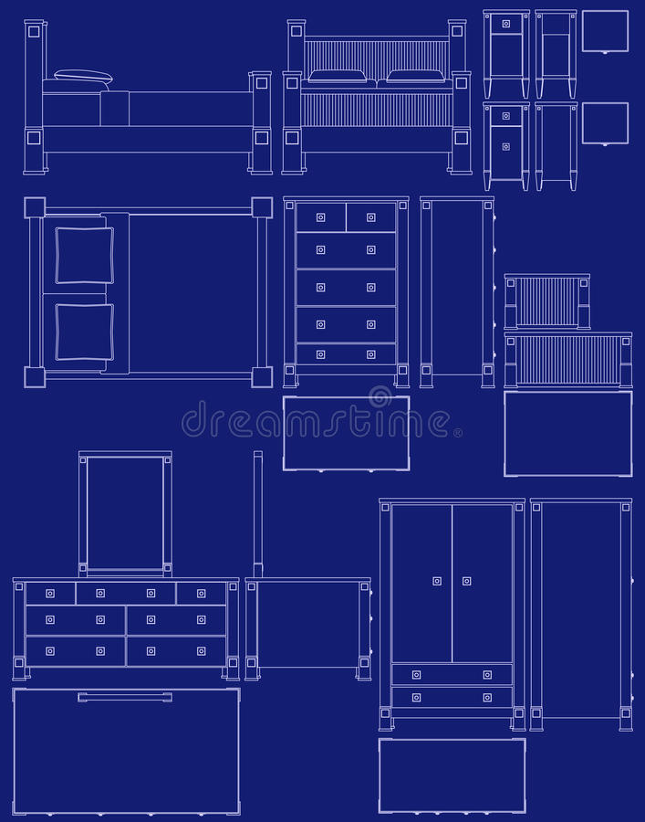 Blueprint bedroom furniture stock vector illustration of dresser download blueprint bedroom furniture stock vector illustration of dresser drawers 11234639 malvernweather Choice Image