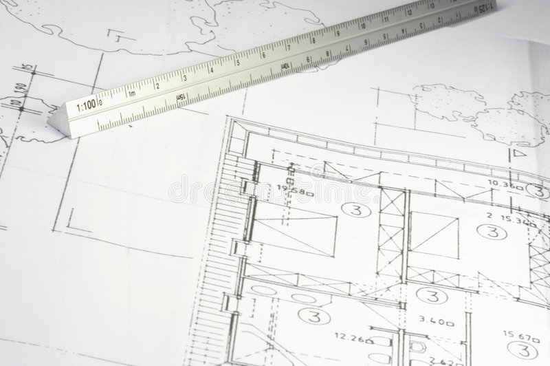 Blueprint of a building 04 royalty free stock photography