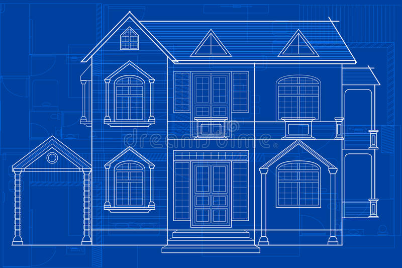 Blueprint of building stock vector illustration of construction download blueprint of building stock vector illustration of construction 66757372 malvernweather Choice Image