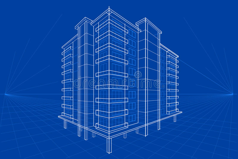 Blueprint of building stock vector illustration of drawing 66757502 download blueprint of building stock vector illustration of drawing 66757502 malvernweather Image collections