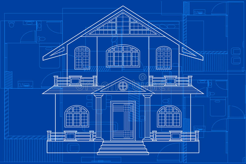 Blueprint of building stock vector illustration of architecture download blueprint of building stock vector illustration of architecture 66757638 malvernweather Choice Image