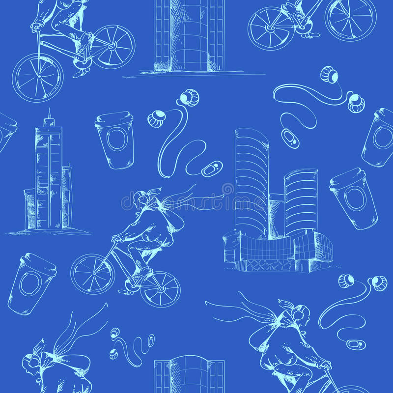 Blueprint city seamless pattern stock vector illustration of download blueprint city seamless pattern stock vector illustration of illustration block 41037994 malvernweather