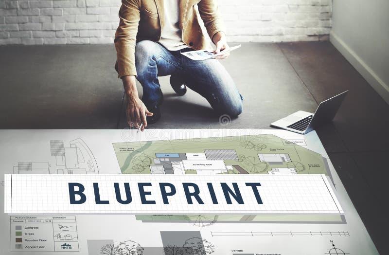 Blueprint Craft Architecture Design Ideas Construct Concept royalty free stock photos