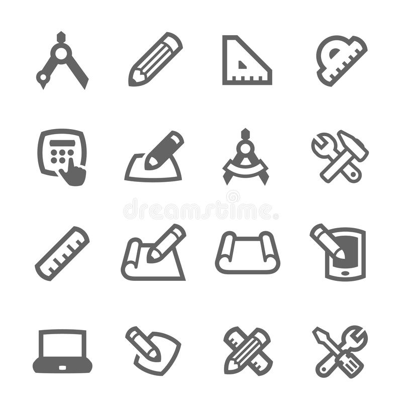 Download Blueprint and design icons stock vector. Image of icon - 38841721