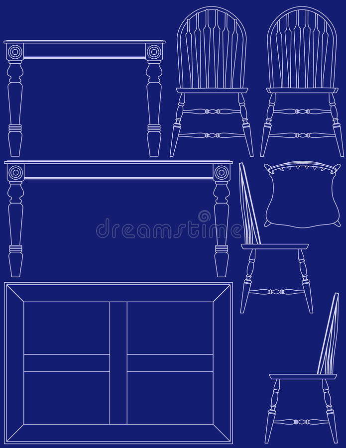 Blueprint dining room furniture stock vector illustration of download blueprint dining room furniture stock vector illustration of household objects 11234644 malvernweather Choice Image