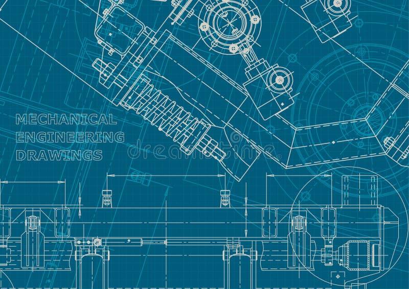blueprint Estilo incorporado Instrumento-fazendo desenhos ilustração do vetor