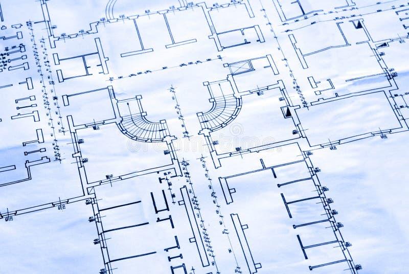 Blueprint - the floor plan stock photo