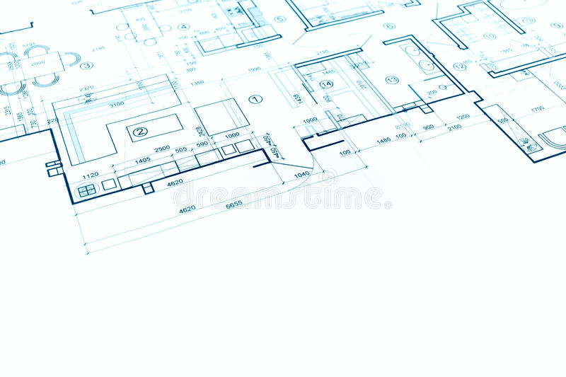 Blueprint floor plan technical drawing construction for Print architectural plans