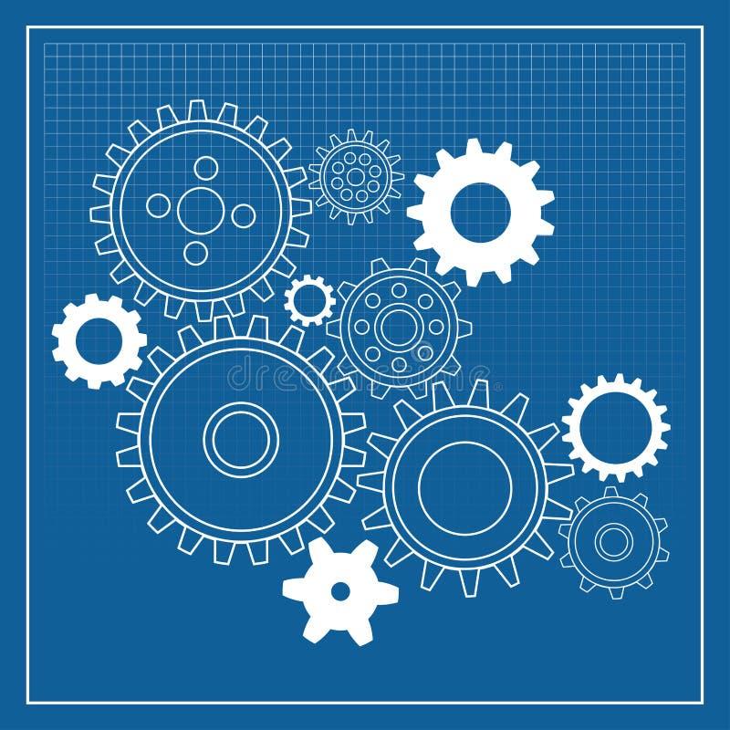 Free Blueprint Gear Wheels Stock Image - 15075761