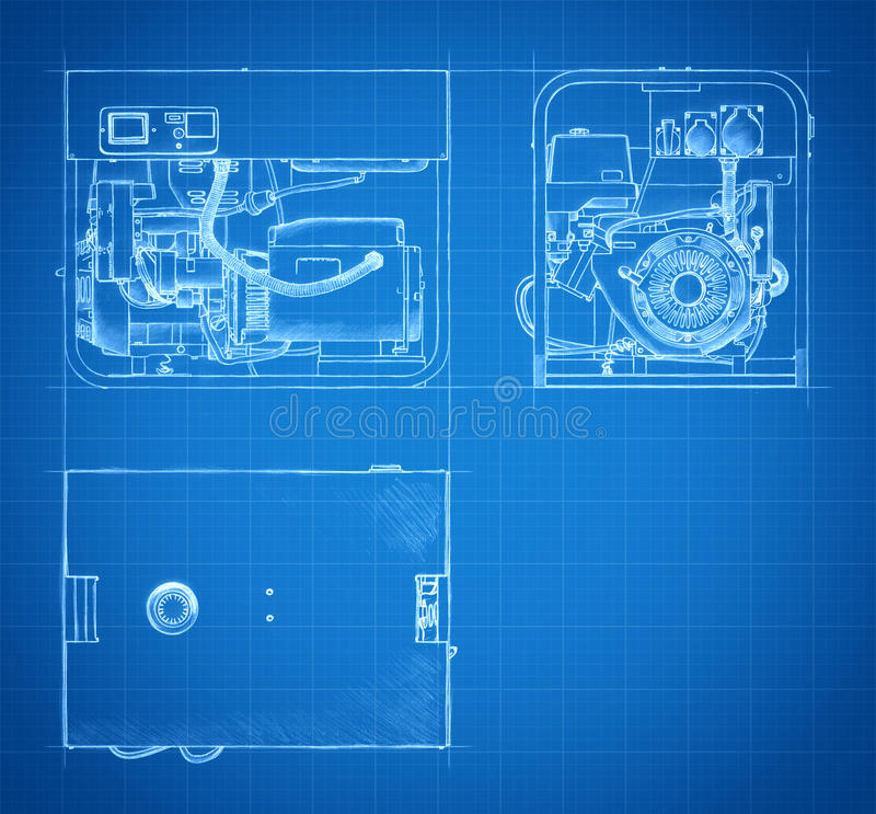 Blueprint of generator drawings and sketches stock illustration download blueprint of generator drawings and sketches stock illustration illustration of blank motor malvernweather Choice Image