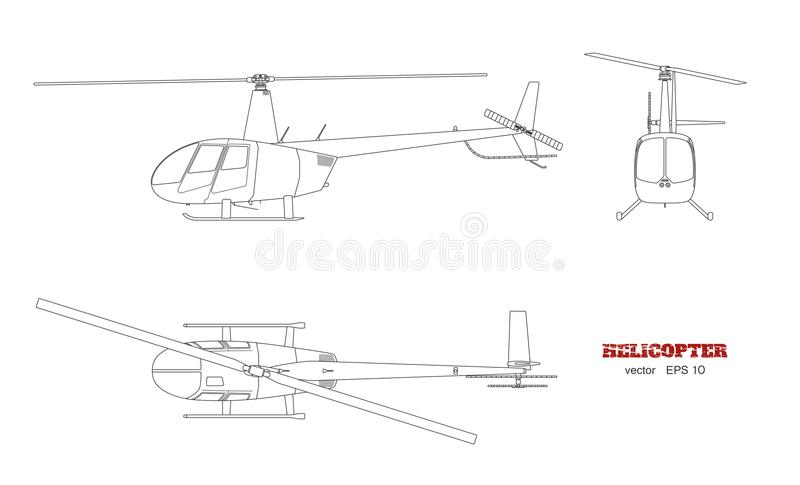Blueprint of helicopter top front and side view detailed image of download blueprint of helicopter top front and side view detailed image of business malvernweather Image collections