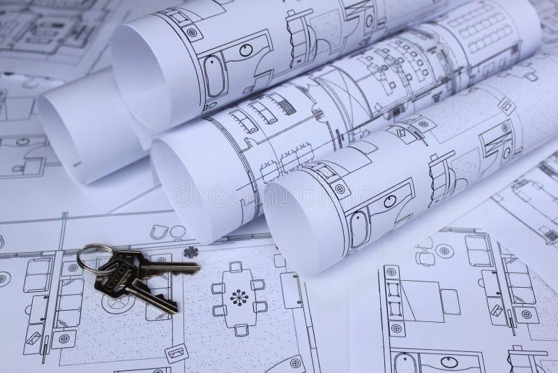 Blueprint Of Home And Home Keys Stock Image Image 15402121
