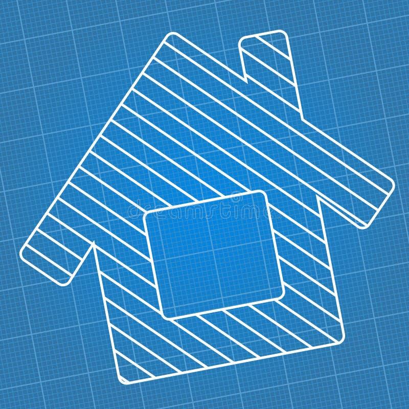 Blueprint house vector illustration