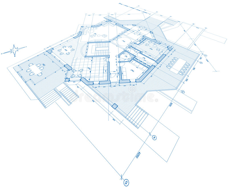 Blueprint House Plan Stock Photography - Image: 6360482