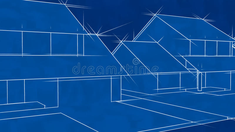 Blueprint Houses Animation (HD Loop) Stock Footage - Video of ...
