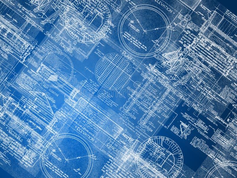 Blueprint o fundo ilustração do vetor