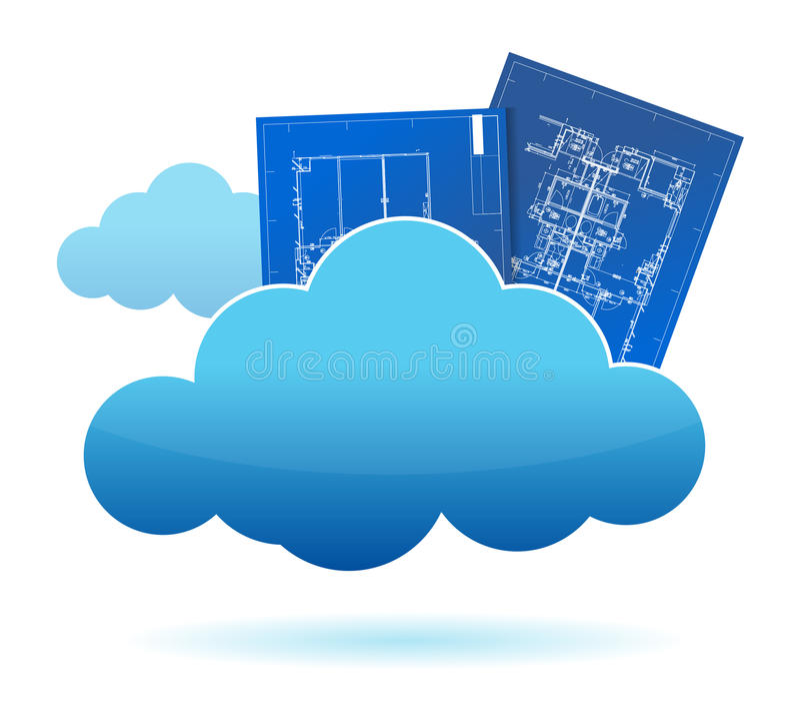Blueprint plants cloud storage concept stock illustration download blueprint plants cloud storage concept stock illustration illustration of information architect 26469826 malvernweather Image collections