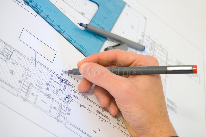 Download Blueprint project stock image. Image of drafts, plan, plans - 4524073