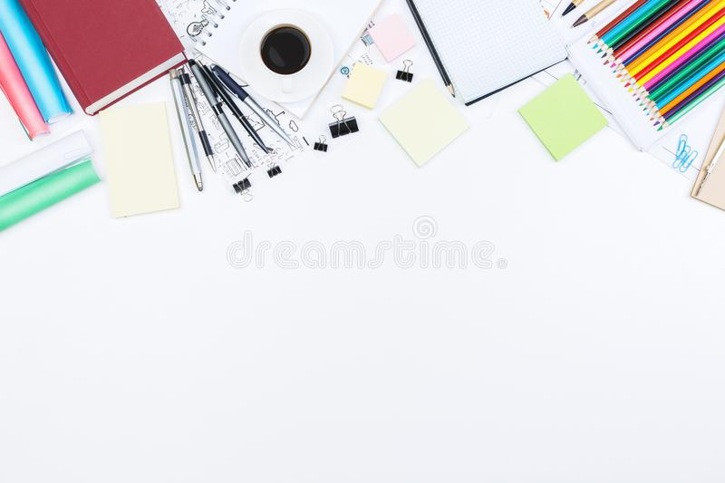 Blueprint and project concept royalty free stock photo